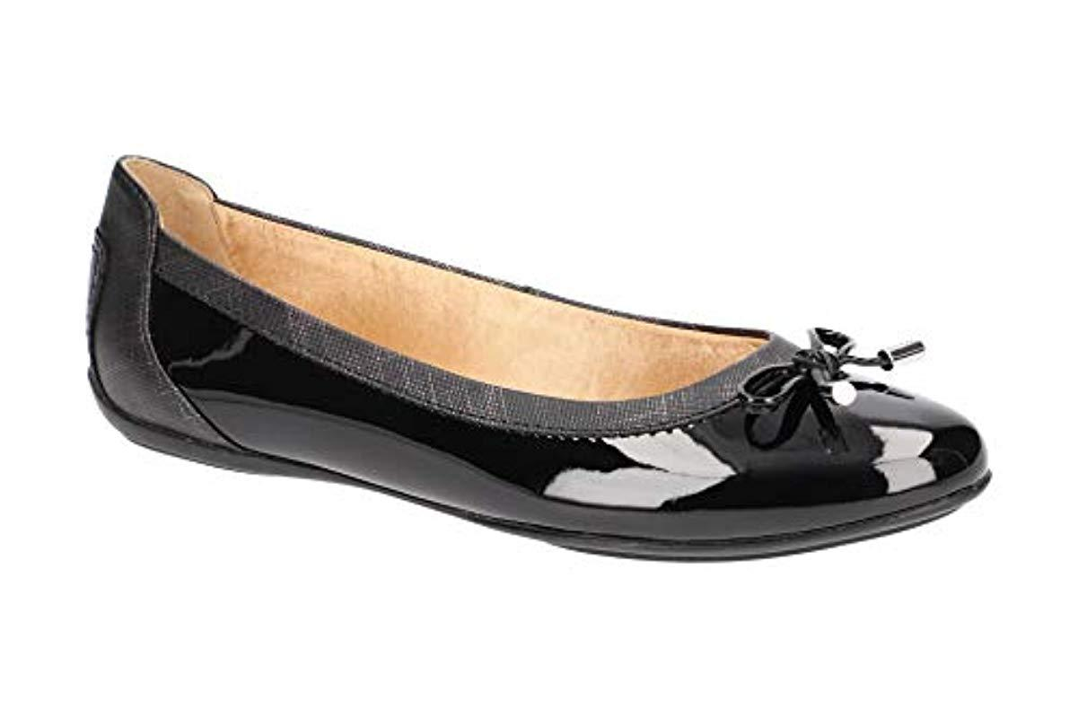 comprare a buon mercato offrire sconti negozio online Geox Shoes Ballet Flats D Charlene A In Black Patent Leather ...