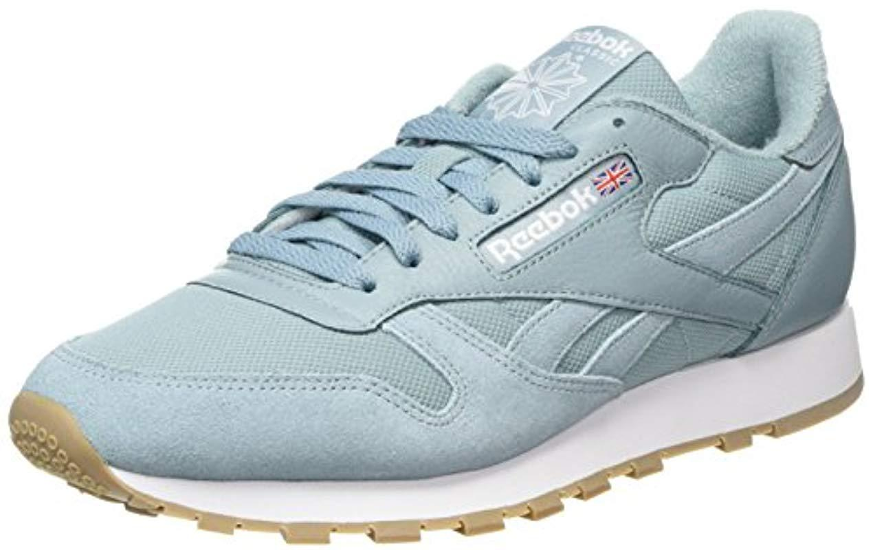 01ff7a23287a Reebok Classic Leather Estl Trainers in Blue for Men - Lyst