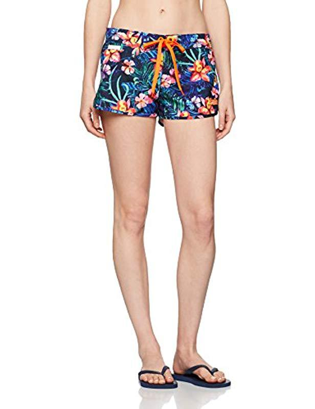1e20fe45b0bb5 Superdry Marbled Hawaii Board Shorts in Blue - Lyst