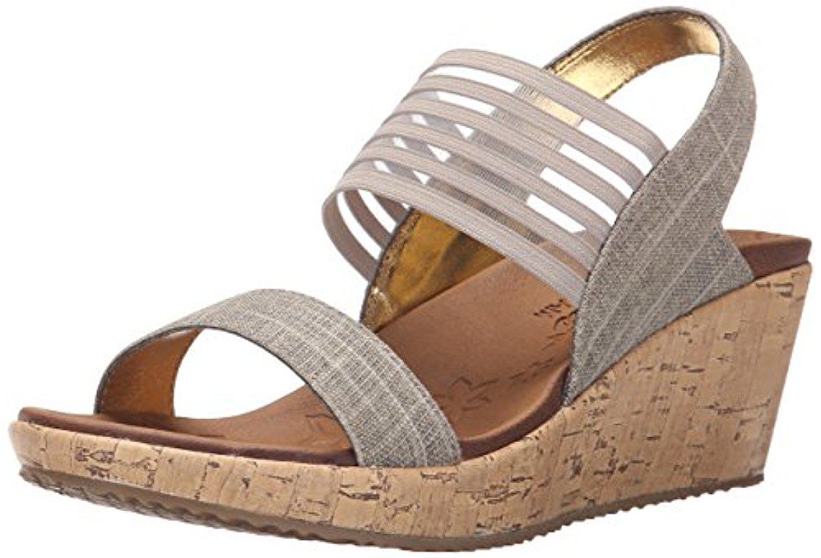 Skechers Beverlee Smitten Kitten Wedge Sandal (Women's) txzqrn