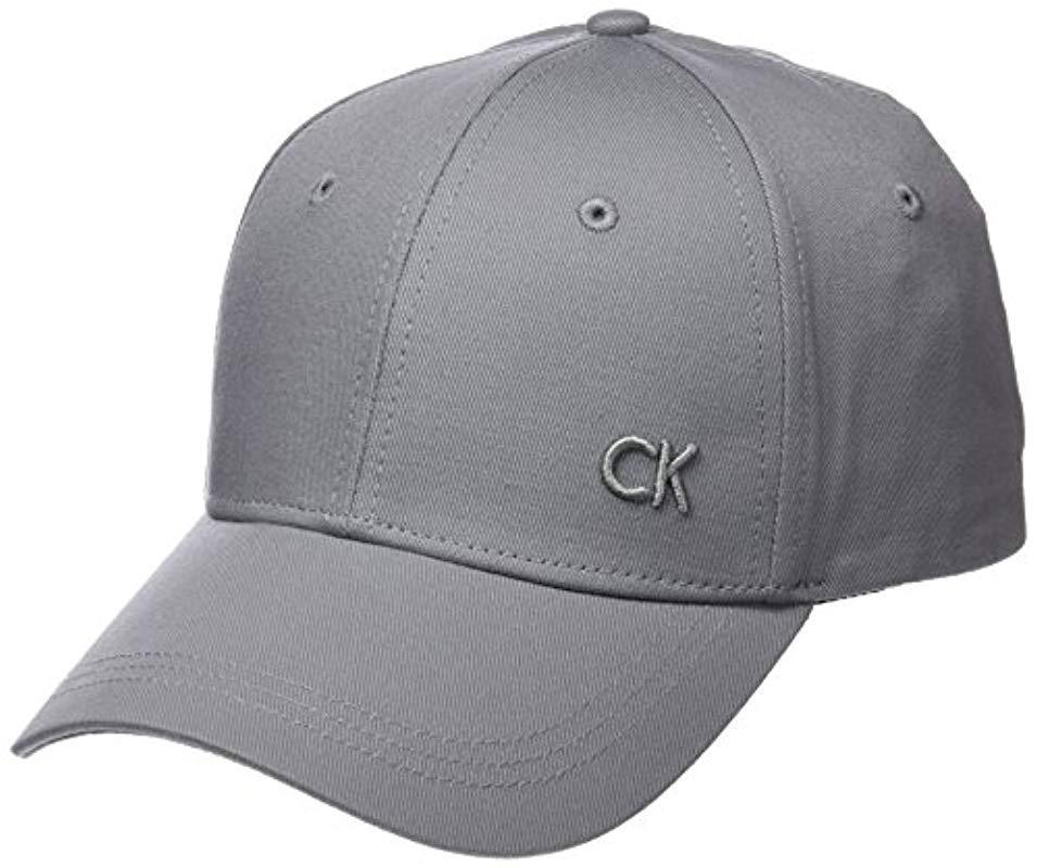 f41dc572acd Calvin Klein Ck M Baseball Cap in Gray for Men - Lyst