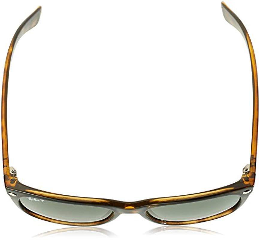 4522a1e0ce30 Ray-Ban - New Wayfarer Sunglasses In Black Rubber Crystal Green Rb2132 622  58 -. View fullscreen