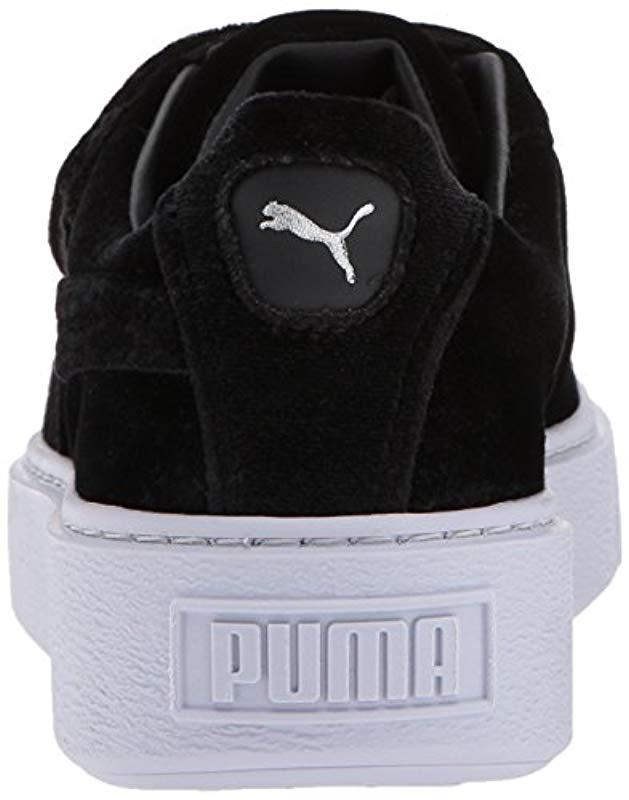 49bf05545d77 Lyst - PUMA Women s Basket Platform Strap Velvet Rope Casual Sneakers From  Finish Line in Black - Save 34%
