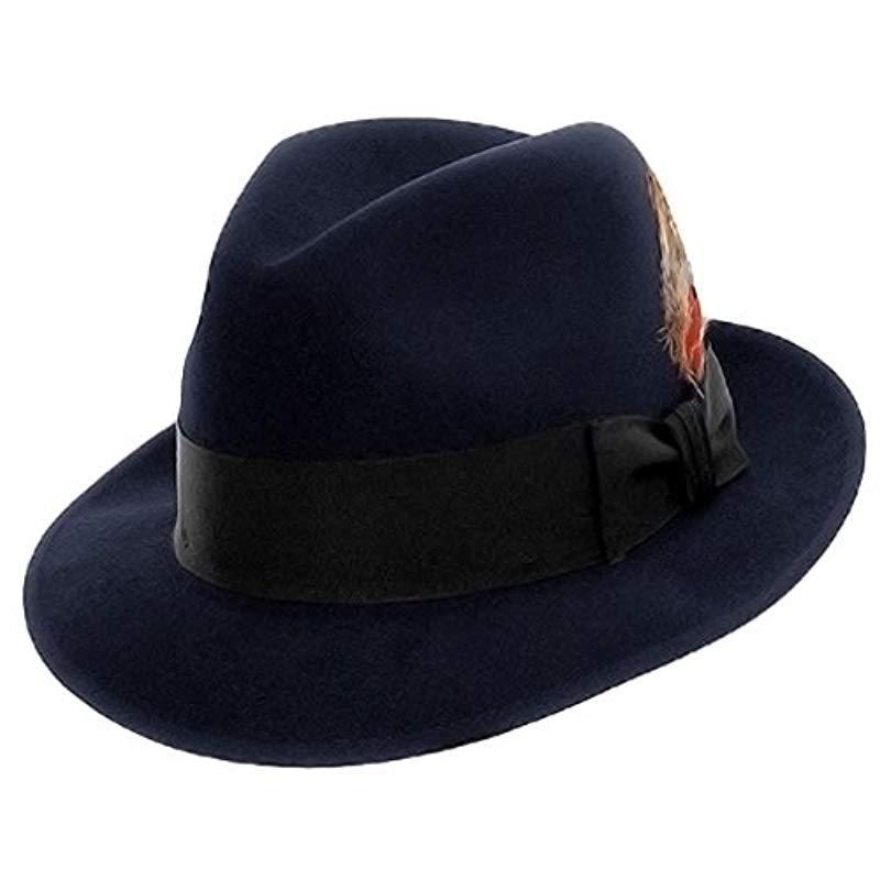4641514d121ac Stetson - Blue Saxon Royal Quality Fur Felt Hat for Men - Lyst. View  fullscreen