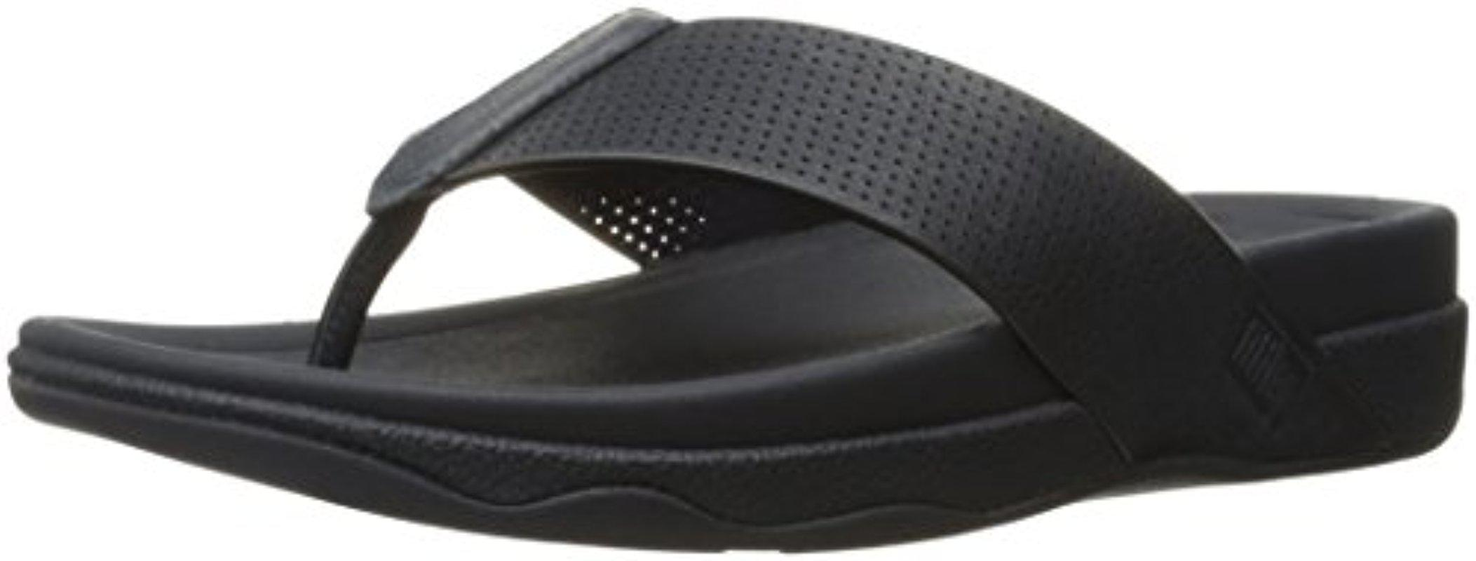 403528c30e0 Lyst - Fitflop Surfer Perf Leather Flip Flop - Save 39%