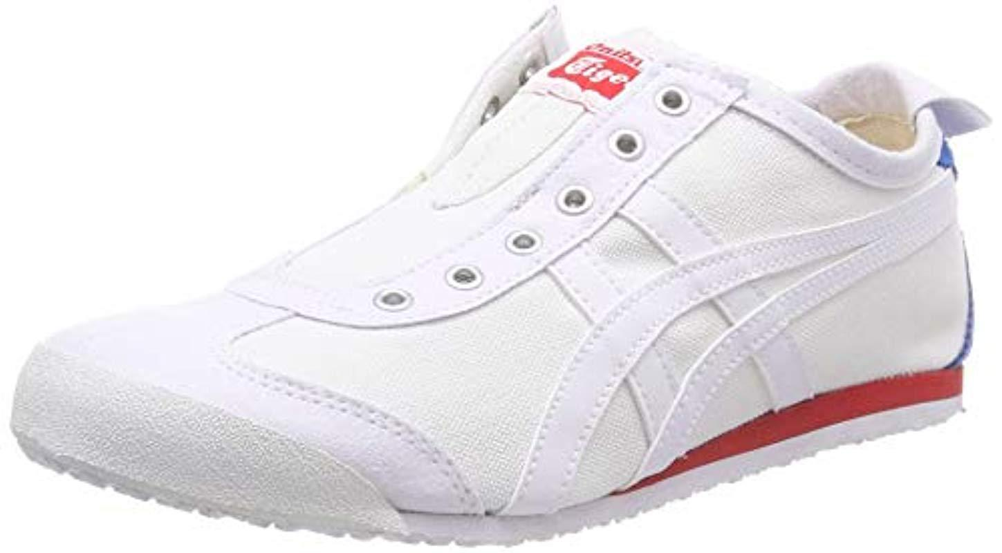 0d37a8f0ec527 Asics Unisex Adults' Onitsuka Tiger Mexico 66 Slip Trainers in White ...