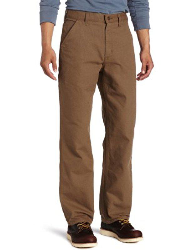 c5275a4fca Carhartt Big & Tall Washed Duck Work Dungaree B11 in Brown for Men ...