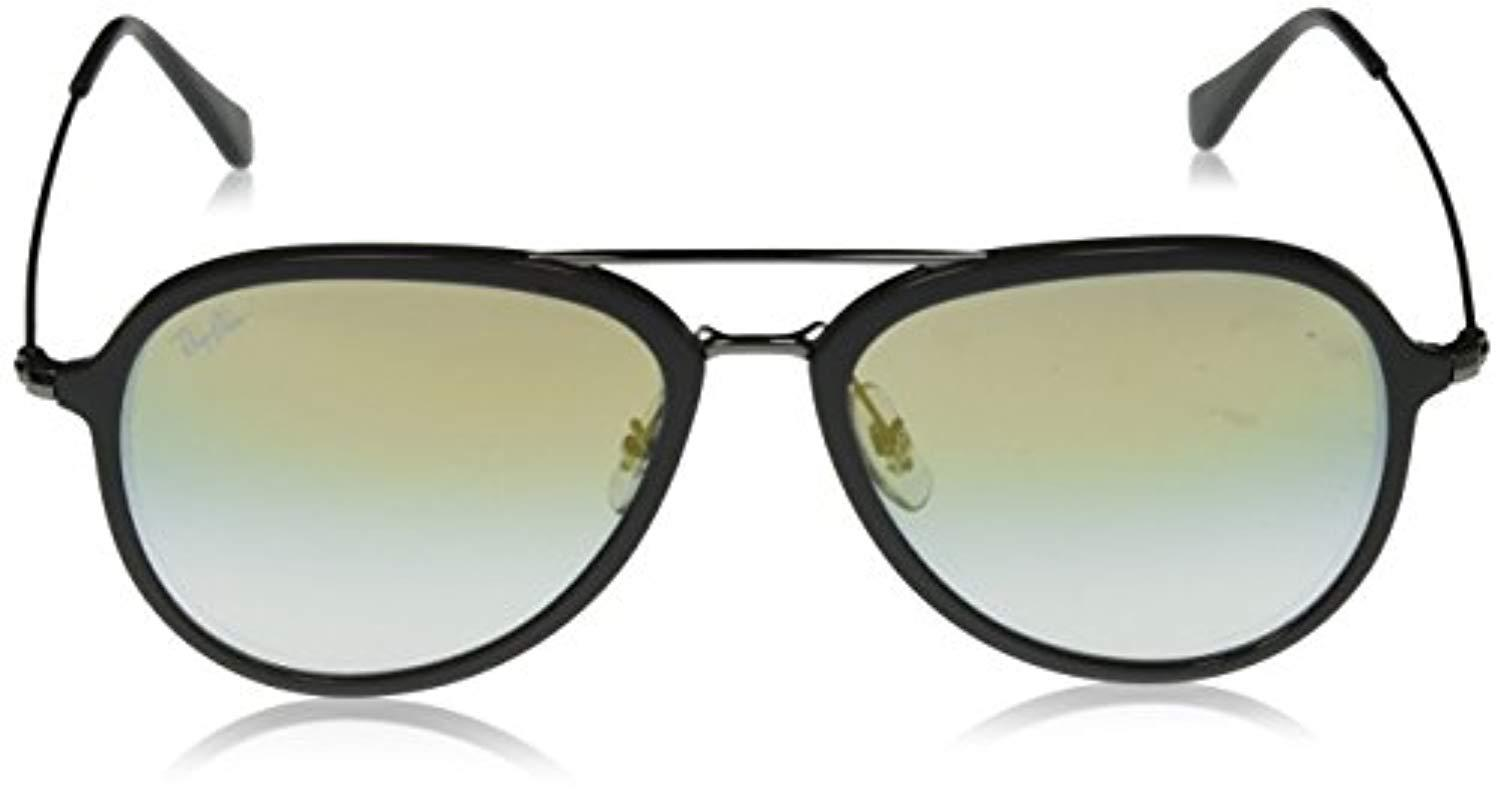 Ray-Ban - Gray Contemporary Pilot Sunglasses In Grey Clear Gold Gradient  Rb4298 6333y0 57. View fullscreen 004e5d0d3c