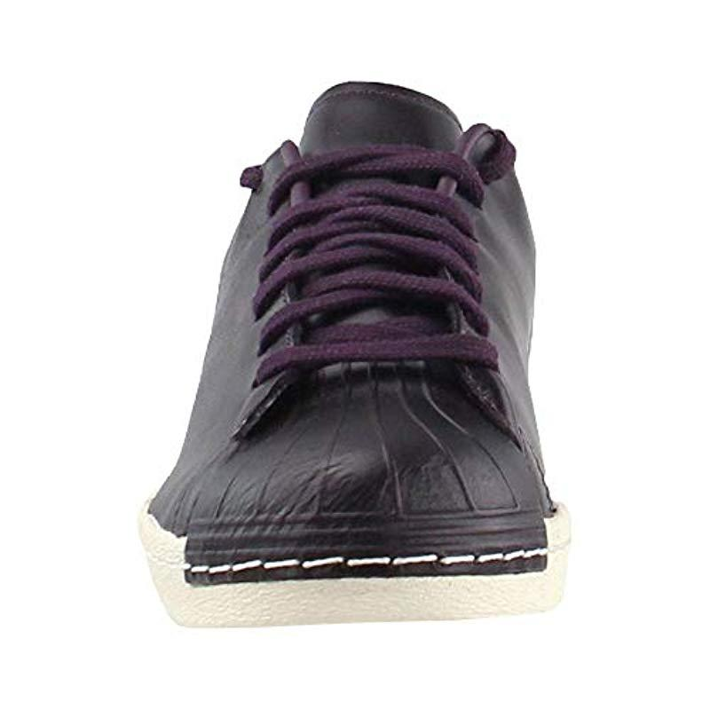 Sumergir insecto cuerda  adidas Leather Originals Superstar 80s Clean Shoes Noble Red Cq2170 in  Violet (Purple) for Men - Lyst