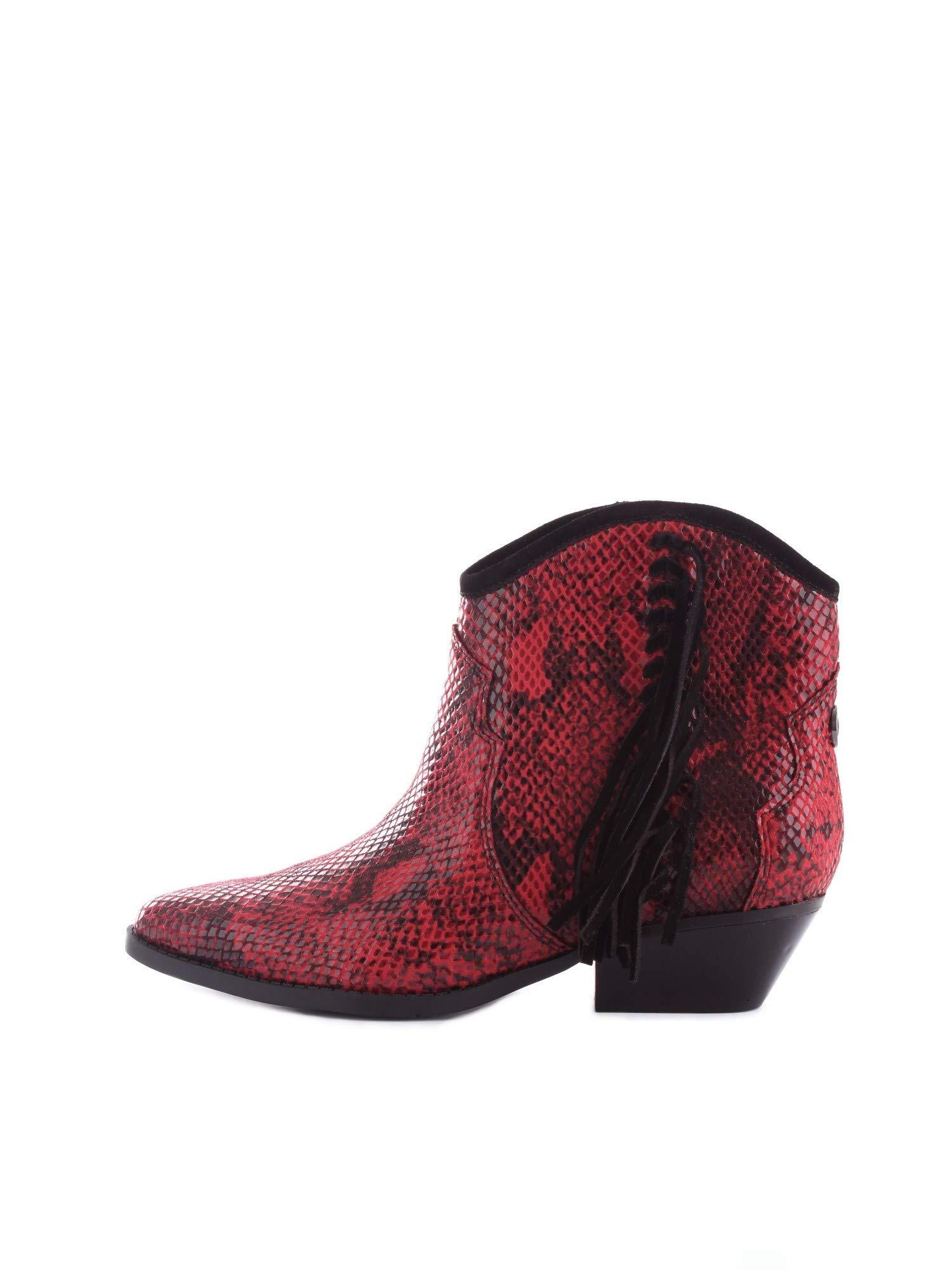 subtle pistol Figure  Guess Leather Fl8na3pel10 Texan 38 in Red - Lyst