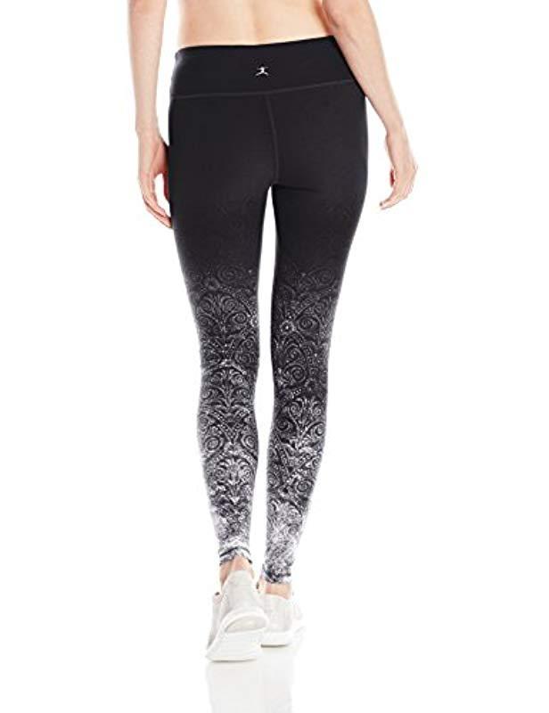 bbcface0408aa Lyst - Danskin Signature Wide Waist Yoga Ankle Legging in Black