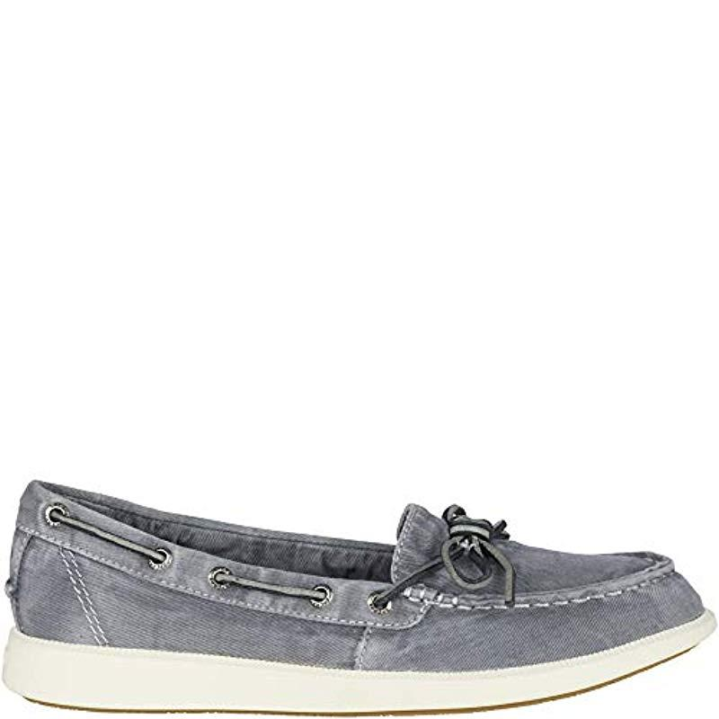 39d1eb9e6122 Sperry Top-Sider - Gray Oasis Canal Canvas Boat Shoe - Lyst. View fullscreen