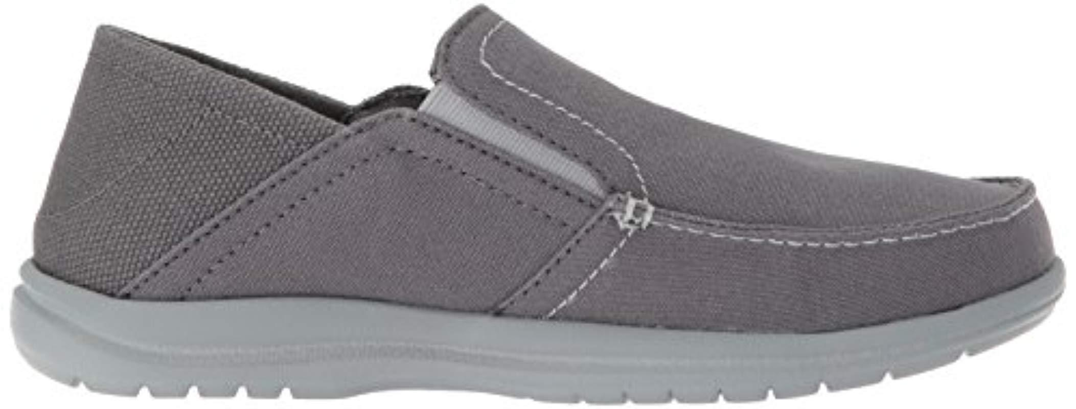 Crocs�?Cotton Santa Cruz Convertible Slip On Loafer Casual Shoes in Light Grey/Slate Grey (Grey) for Men