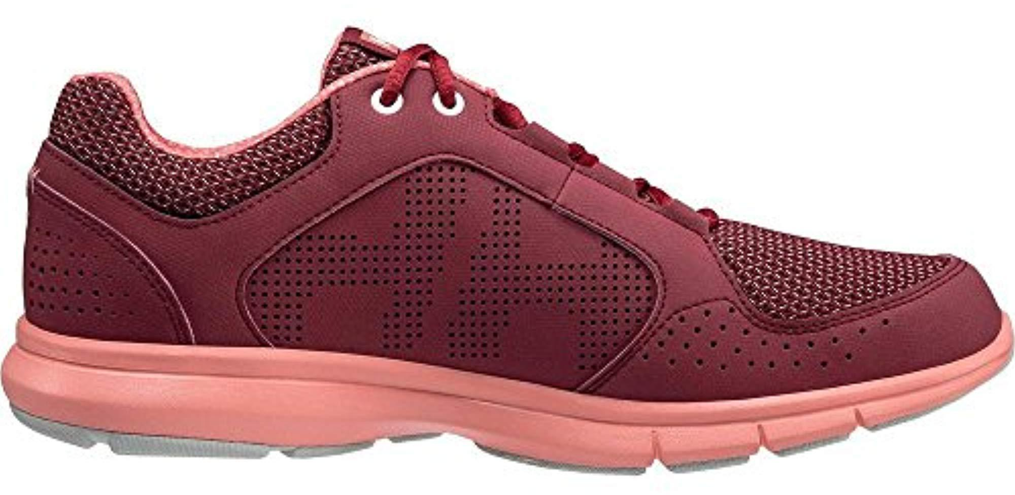 Helly Hansen Rubber S/ladies Ahiga V3 Hydropower Breathable Boat Shoes in Plum/Shell Pink/Light (Red)