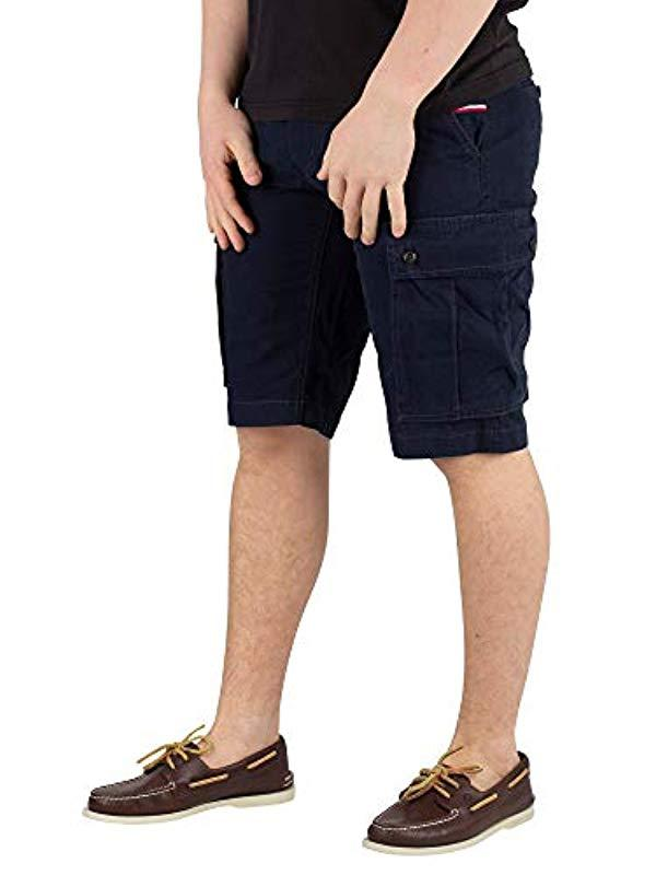 6baaef4c63cdc0 Tommy Hilfiger 's John Cargo Short Light Twill in Blue for Men - Lyst