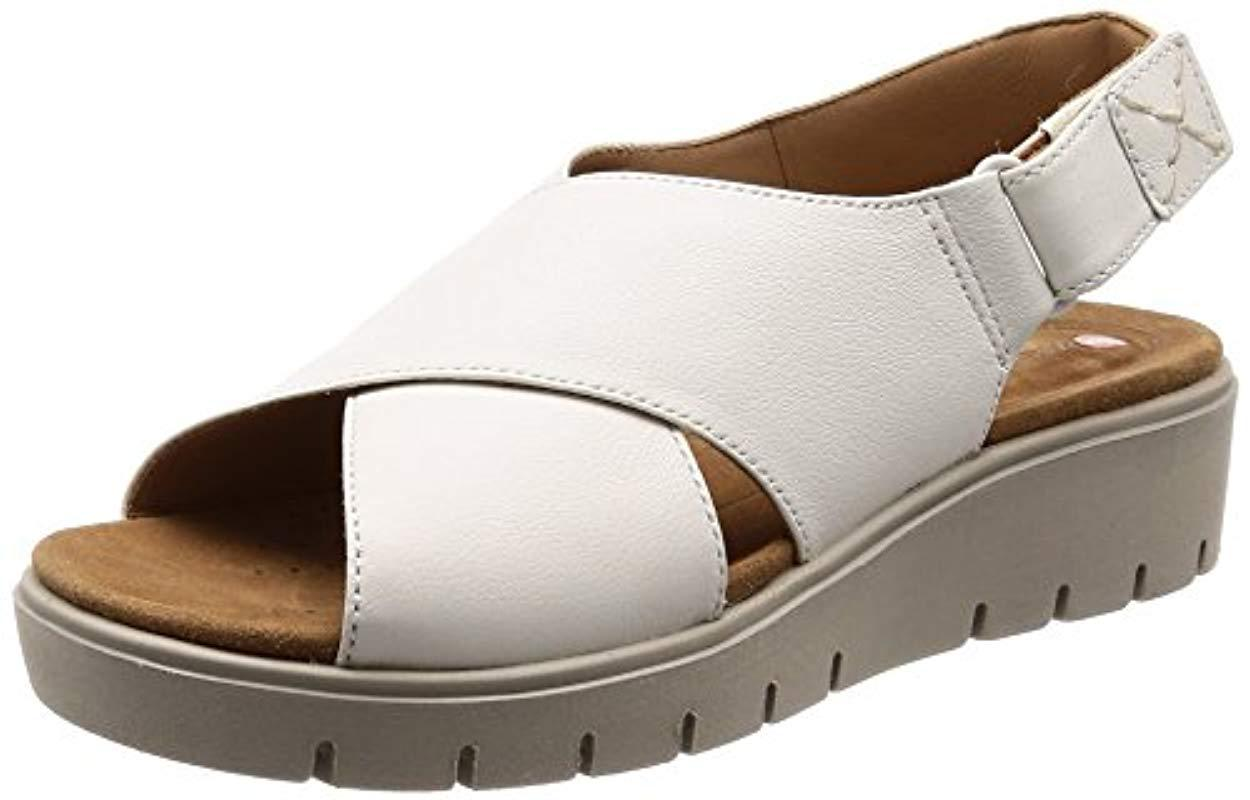 a6f5d0cb226 Clarks  s Un Karely Hail Sling Back Sandals in White - Lyst