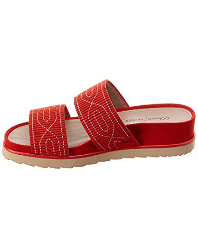 0fe8cd609490 Lyst - Donald J Pliner Cait Slide Sandal in Red - Save 38.20224719101124%