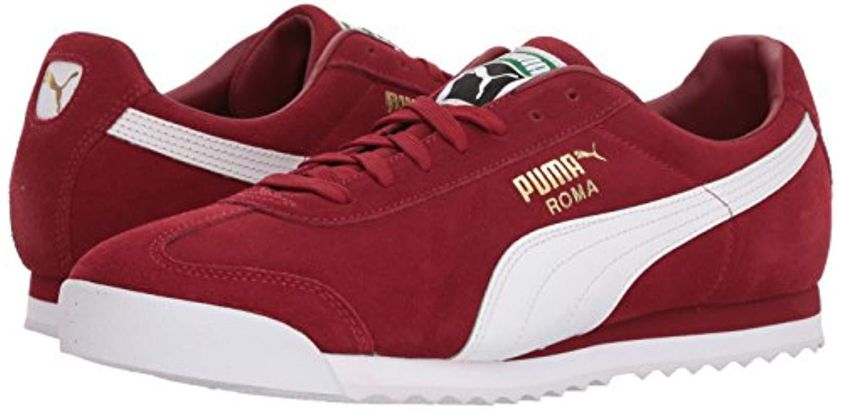 brand new 53401 e695b Men's Red Roma Suede Fashion Sneaker