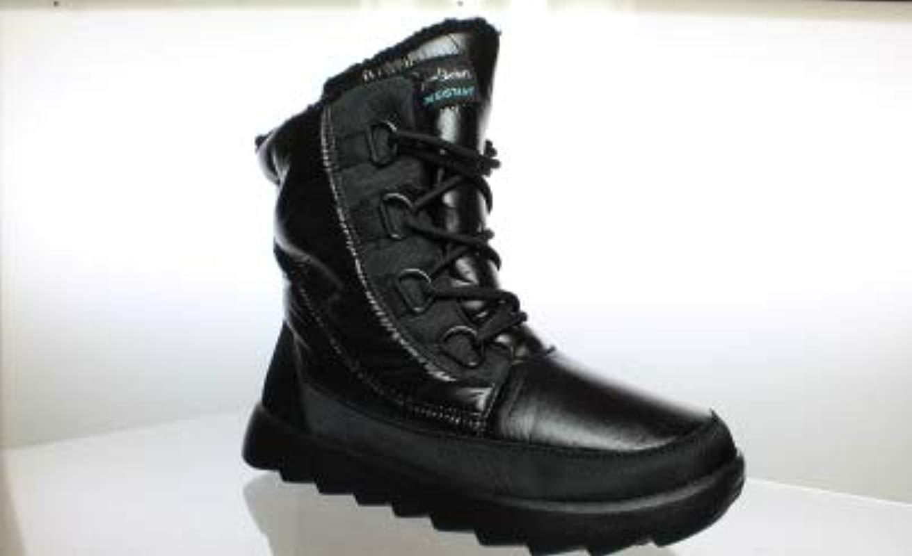 Skechers. Women s Black Bobs From Mementos Snow Cap Cozy Winter Boot a3bf2eac443c