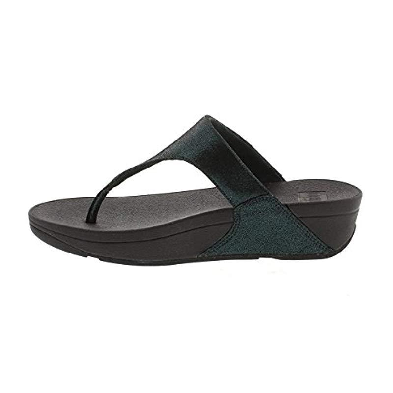 58e046cf5 Lyst - Fitflop Shimmy Suede Toe-thong Sandals Flip-flop in Black