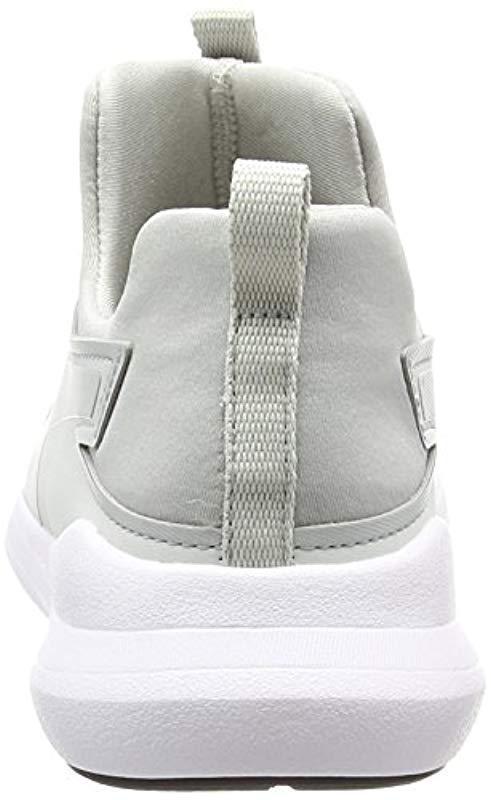 d990c09d30d8 PUMA - Gray Rebel Mid Wns Low-top Sneakers - Lyst. View fullscreen