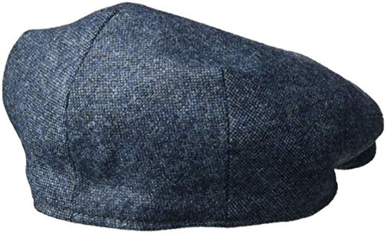 46188c1918878 Kangol - Blue British Peebles Flat Ivy Cap Hat for Men - Lyst. View  fullscreen