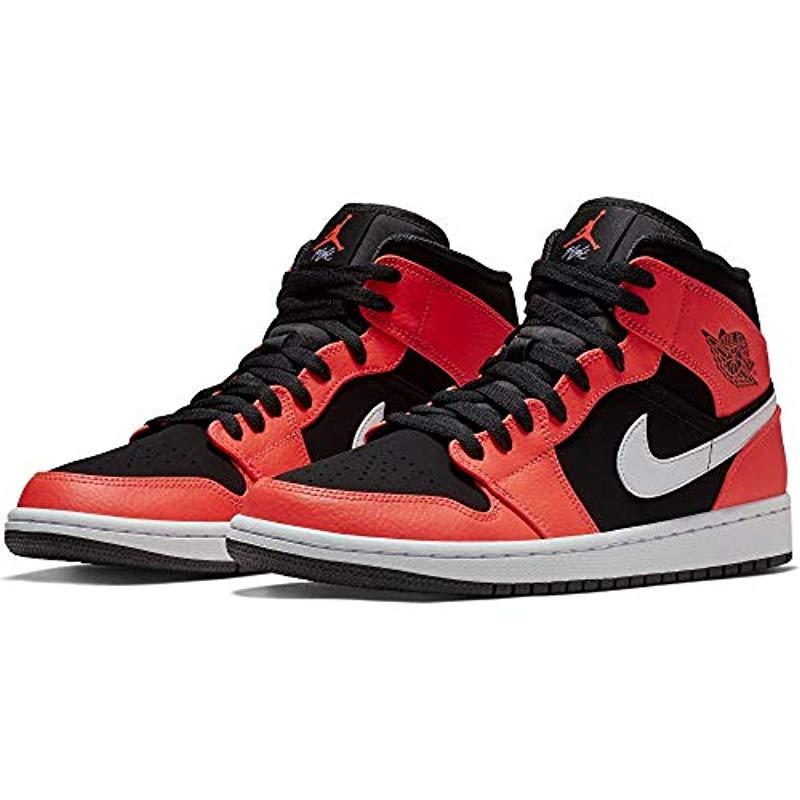 cheap for discount 0c307 5d4ec Nike Air Jordan 1 Mid Fitness Shoes in Red for Men - Lyst