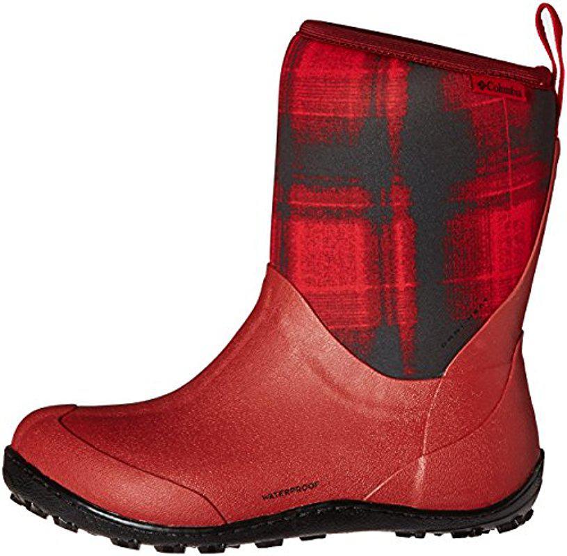 Columbia Womens Snowpow Mid Print Omni-Heat Snow Boot