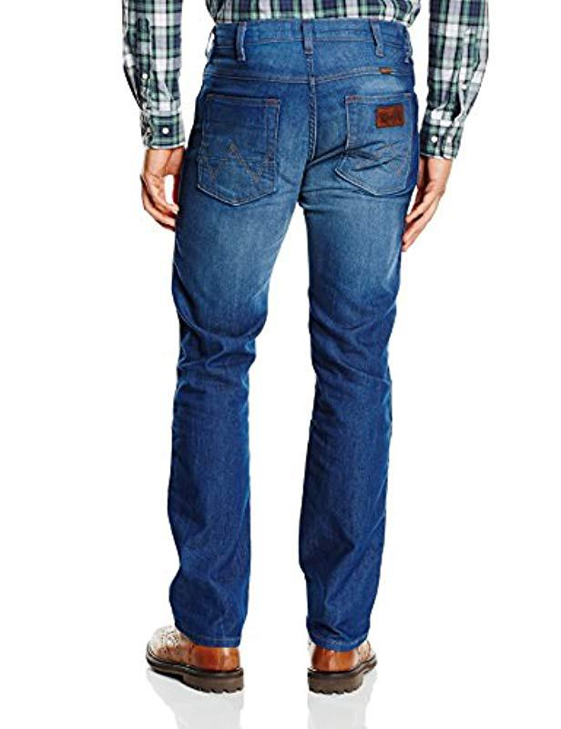 Wrangler Arizona Straight Fit Stretch Jeans New Men Vintage Faded Tagged Up