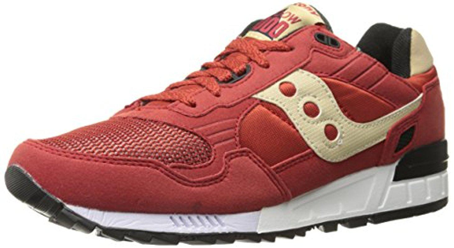 Saucony. Men's Red Originals Shadow 5000 Classic Retro Sneaker