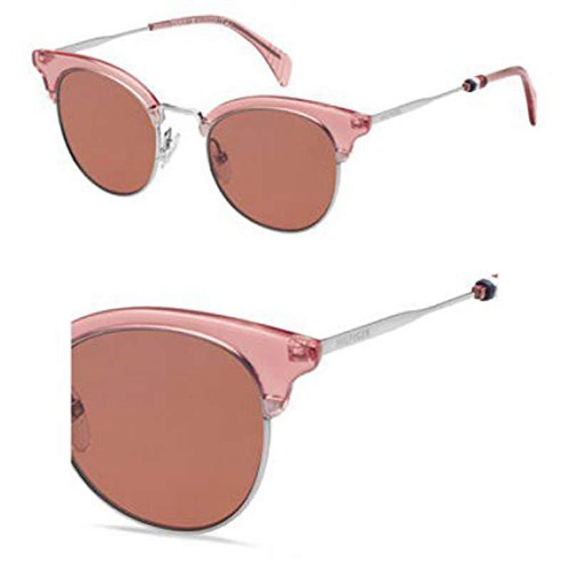 94c93a517f Tommy Hilfiger. Women s Th1539s Oval Sunglasses ...