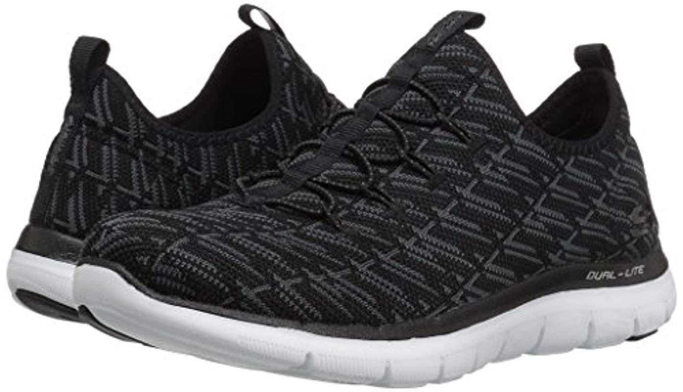 Skechers Sport Flex Appeal 2.0 Insight Sneaker,black Charcoal,7.5 M Us