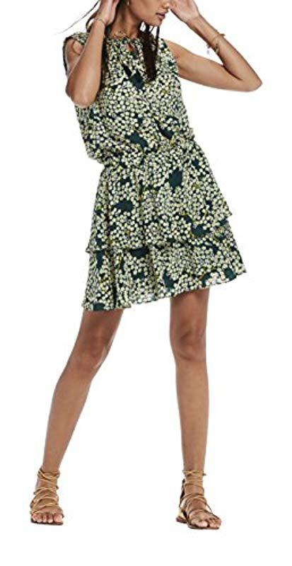 d3c21142d278e7 Scotch   Soda. Women s Green Silky Feel Sleeveless Printed Summer Dress ...