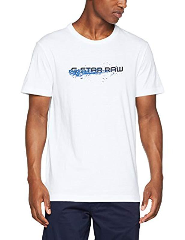 38a5a76d53c G-Star Raw Lon Regular Rt S/s T-shirt in White for Men - Lyst