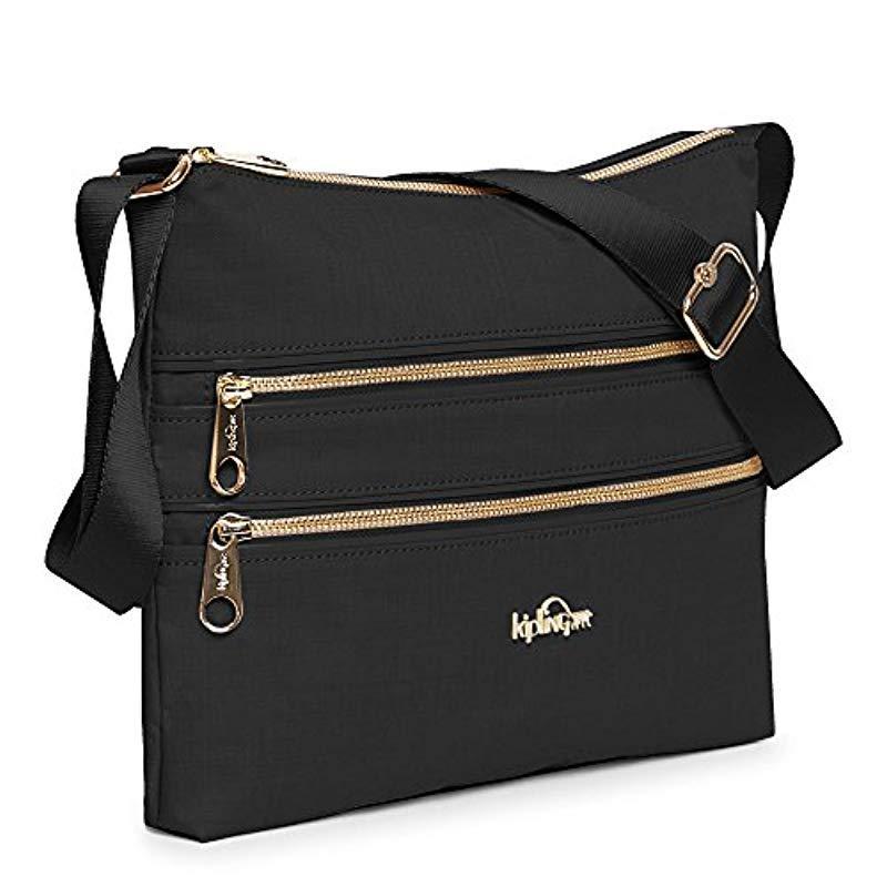 Kipling S Alvar Shoulder Bag in Black Crosshatch (Black)