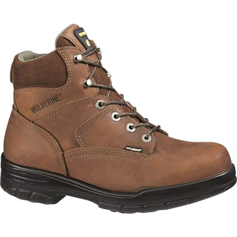 847d72e2e5c0 Wolverine - Brown Durashocks Slip Resistant Steel-toe 6
