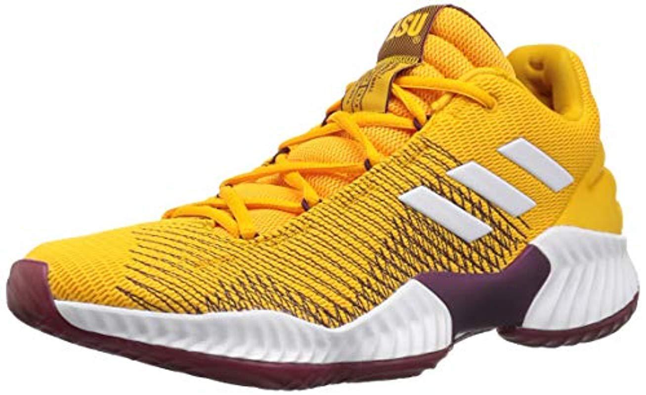 detailed look 3e67d 9d34c Adidas Originals - Yellow Pro Bounce 2018 Low Basketball Shoe for Men -  Lyst. View fullscreen