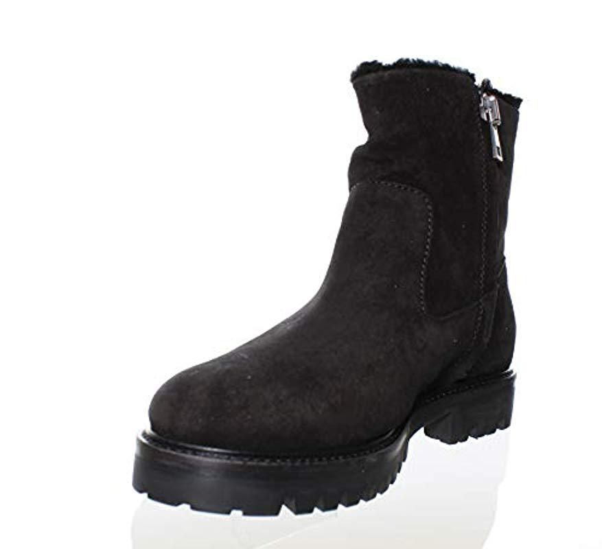 Vince Frances Shearling Lined Suede Boot In Black Lyst