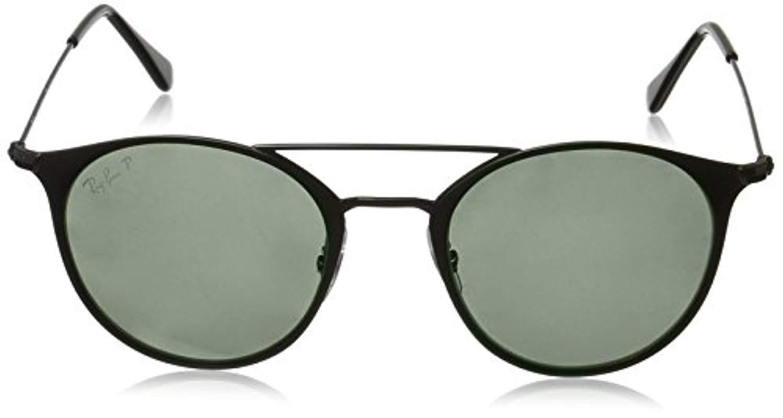 dfa48f79a95 Ray-Ban Double Bridge Metal Round Sunglasses In Black G15 Green ...