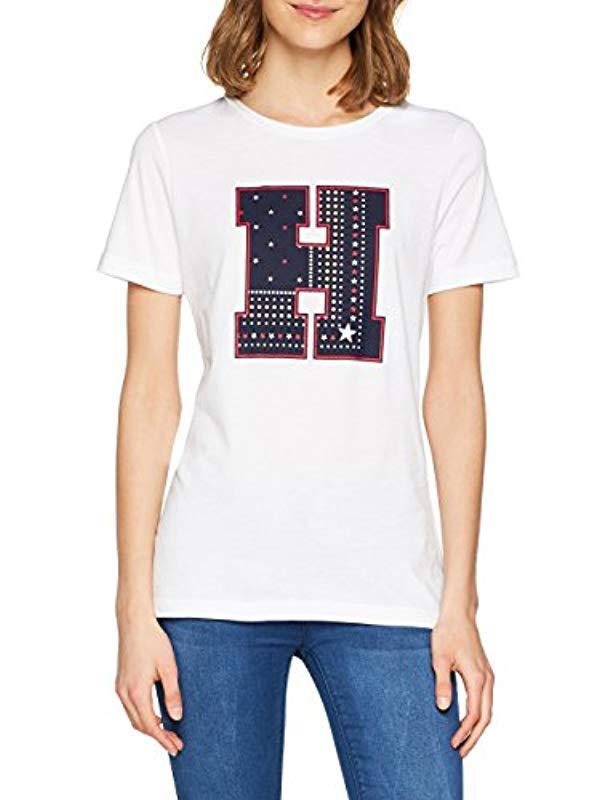 Tommy Hilfiger Ailia H-prt Tee Ss T-shirt in White - Lyst b2279b7c21cd