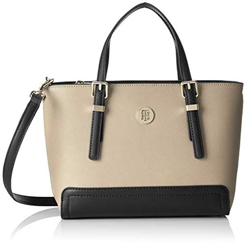7a5782d6 Tommy Hilfiger Honey Small Tote Tote in Natural - Lyst