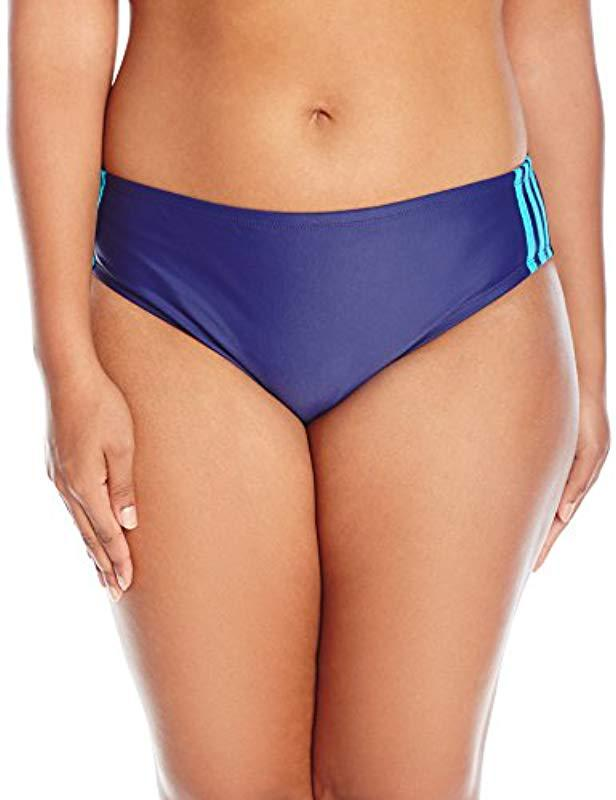 204172ce9debe Lyst - adidas Plus-size Light As A Heather Sport Hipster Bikini ...