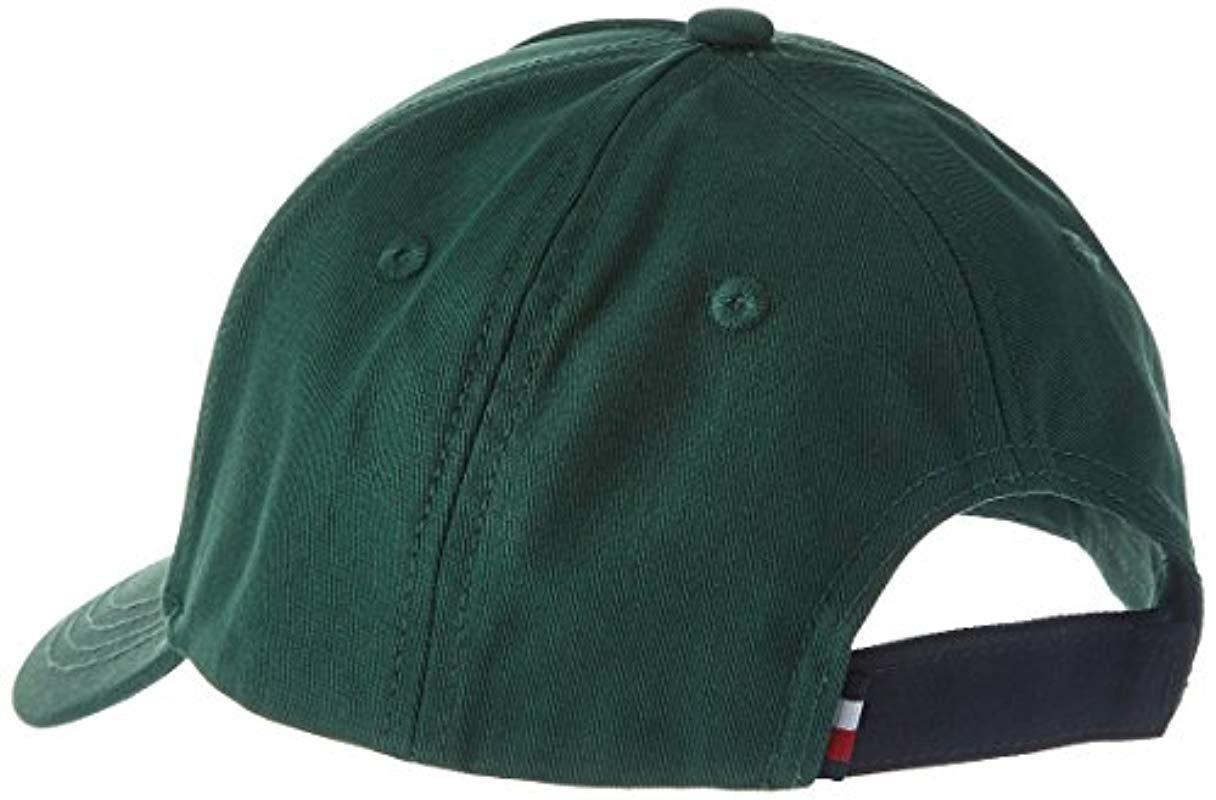 eb280c7cf Tommy Hilfiger - Green Big Flag Baseball Cap for Men - Lyst. View fullscreen