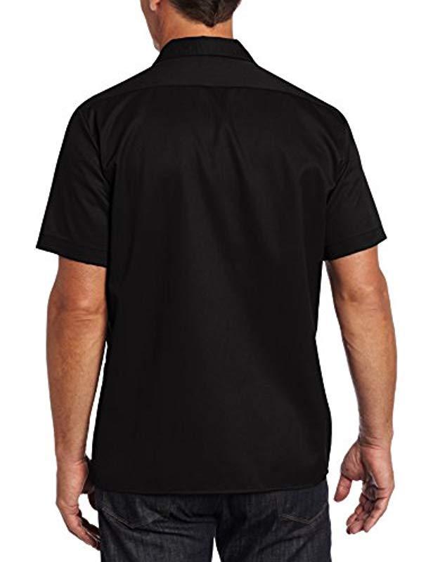 Dickies S/S Slim Shirt Freizeithemd in Schwarz für Herren - Sparen Sie 31%