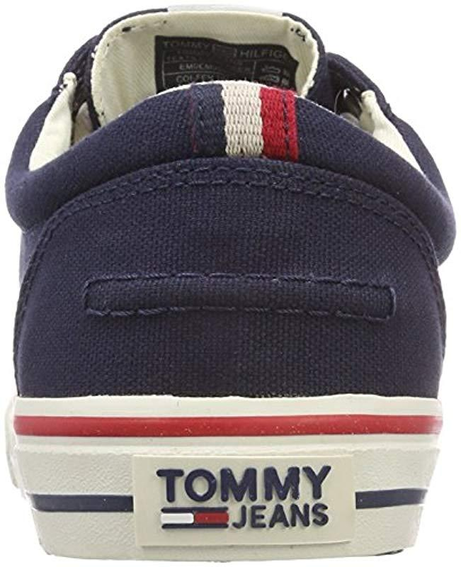 b1399bc7f Tommy Hilfiger Hilfiger Denim 's Textile Low-top Sneakers in Blue for Men -  Lyst