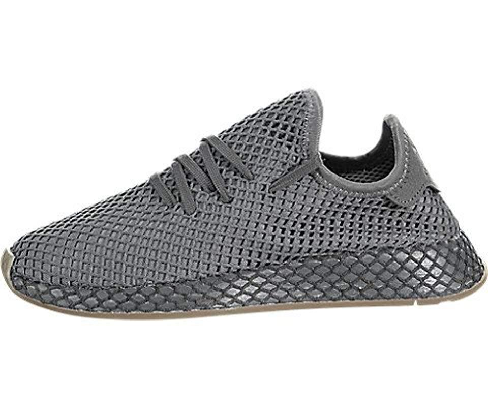 new style f079a 8b55a adidas Deerupt Runner W Gymnastics Shoes in Gray - Lyst
