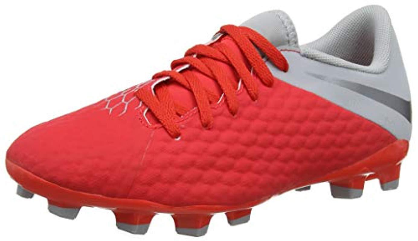 brand new 9ca1b ddce7 Nike Unisex Adults  Jr Hypervenom 3 Academy Fg Futsal Shoes in Red ...