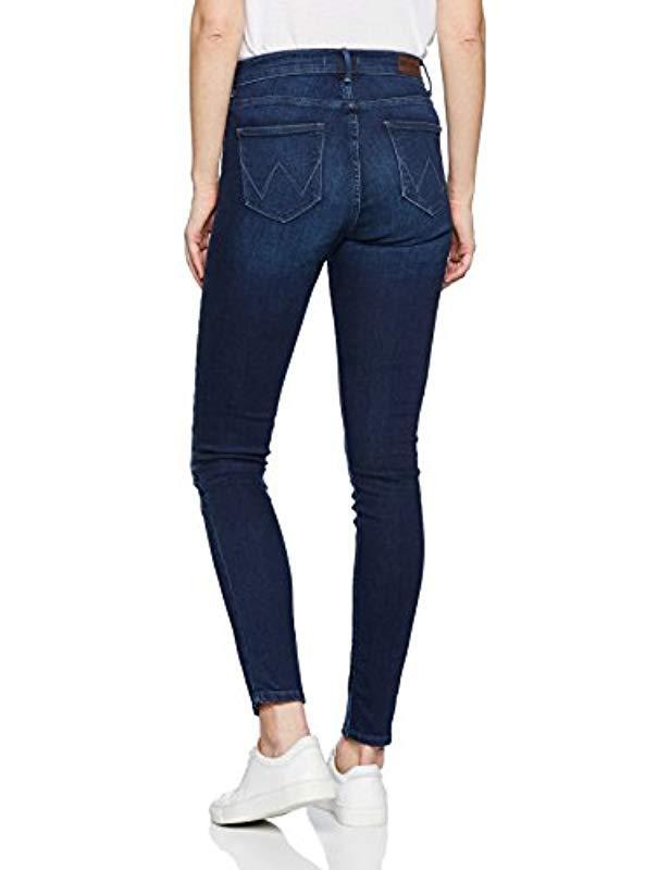 Wrangler Denim Skinny Jeans HIGH RISE SKINNY in Blau 1zIJk