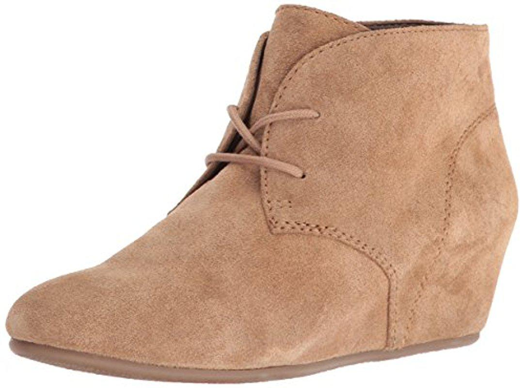 db1c0ae53d12 Lyst - Nine West Joanis Suede Boot in Natural - Save 3%