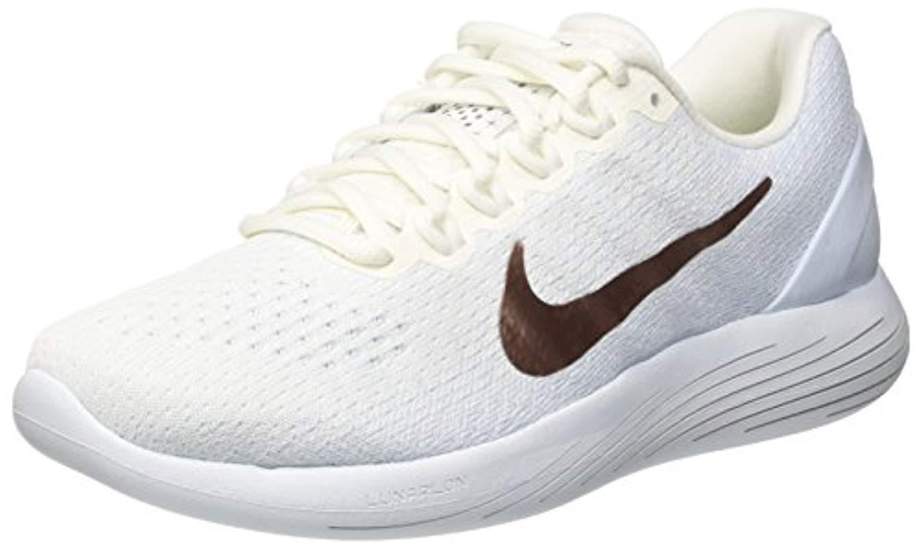 ce8ab06e3af Nike  s Wmns Lunarglide 9 X-plore Running Shoes in White - Lyst